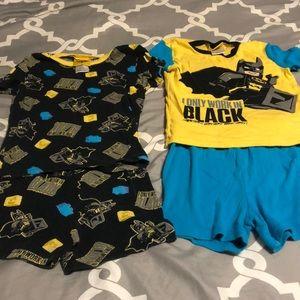2 pair of top and shorts set pajamas size 8